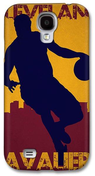 Lebron Galaxy S4 Cases - Cleveland Cavaliers Lebron James Galaxy S4 Case by Joe Hamilton