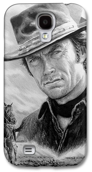 Power Drawings Galaxy S4 Cases - Clint Eastwood American Legend Galaxy S4 Case by Andrew Read