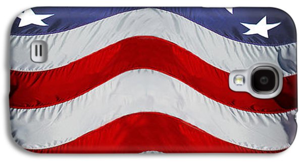 Fourth Of July Galaxy S4 Cases - Close-up Of An American Flag Galaxy S4 Case by Panoramic Images
