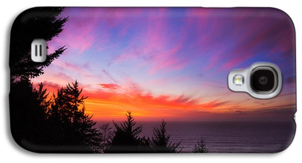Sunset Greeting Cards Galaxy S4 Cases - Coastal Skies Galaxy S4 Case by Darren  White
