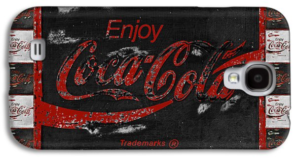 Coca-cola Signs Galaxy S4 Cases - Coca Cola Signs Galaxy S4 Case by John Stephens
