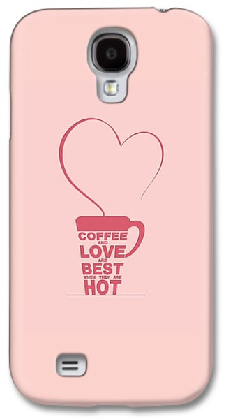 Framed Digital Galaxy S4 Cases - Coffee Love quote Typographic print art Galaxy S4 Case by Lab No 4 - The Quotography Department