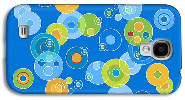 Colorful Abstract Galaxy S4 Cases - Colorful Circles Galaxy S4 Case by Frank Tschakert