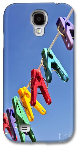 Plastic Galaxy S4 Cases - Colorful clothes pins Galaxy S4 Case by Elena Elisseeva