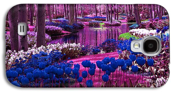 Colorful Flower Garden Galaxy S4 Case by Marvin Blaine