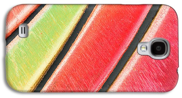 Flooring Galaxy S4 Cases - Colorful wood Galaxy S4 Case by Tom Gowanlock