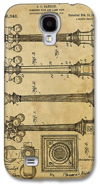 Lamp Post Mixed Media Galaxy S4 Cases - Combined Pole and Lamp Post - 1914 Galaxy S4 Case by Pablo Franchi
