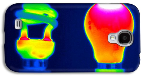 Electrical Equipment Photographs Galaxy S4 Cases - Comparing Light Bulbs, Thermogram Galaxy S4 Case by Tony McConnell