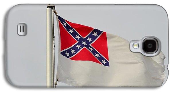 Slavery Galaxy S4 Cases - Confederate Civil War Flag Galaxy S4 Case by Bob Sample