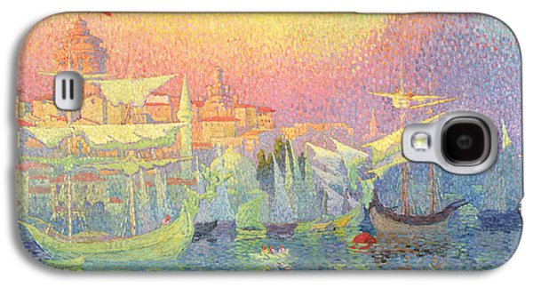Pointillist Paintings Galaxy S4 Cases - Constantinople Galaxy S4 Case by Henri Person