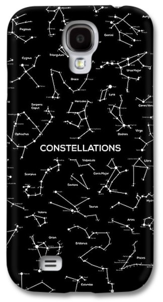 Stargazing Galaxy S4 Cases - Constellations Galaxy S4 Case by Taylan Soyturk
