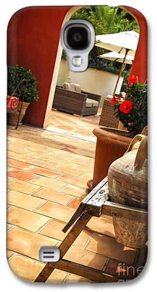 Furnishing Galaxy S4 Cases - Courtyard of a villa Galaxy S4 Case by Elena Elisseeva