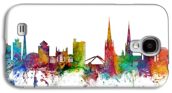 Great Britain Galaxy S4 Cases - Coventry England Skyline Galaxy S4 Case by Michael Tompsett