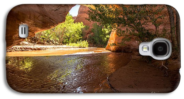 Holes In Sandstone Galaxy S4 Cases - Coyote Natural Bridge - Coyote Gulch - Utah Galaxy S4 Case by Gary Whitton