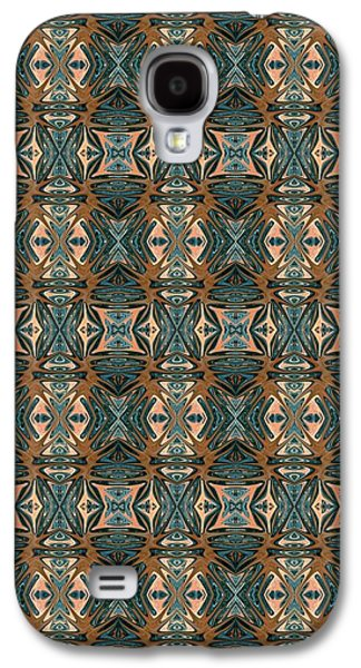 Abstract Digital Tapestries - Textiles Galaxy S4 Cases - CrazieArt Designs by Thia - Cassie Galaxy S4 Case by Thia Stover