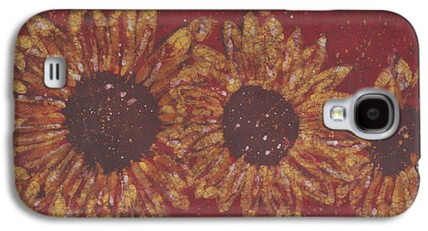 Impressionism Tapestries - Textiles Galaxy S4 Cases - Crimson Sunflowers Galaxy S4 Case by Kevin Houchin