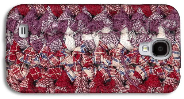 Macro Tapestries - Textiles Galaxy S4 Cases - Crochet rag rug Galaxy S4 Case by Kerstin Ivarsson