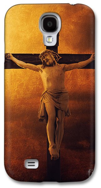 Print Pyrography Galaxy S4 Cases - Crucifixcion Galaxy S4 Case by Jelena Jovanovic