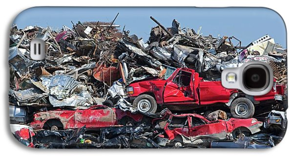 Crushed Cars At Scrapyard Galaxy S4 Case by Jim West
