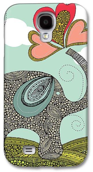 Cute Elephant Galaxy S4 Case by Valentina Ramos