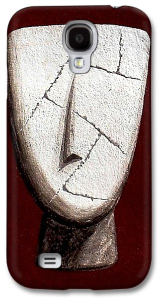 Ancient Sculptures Galaxy S4 Cases - Cycladic Idol Galaxy S4 Case by Thiras art