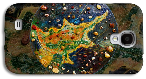 Chart Paintings Galaxy S4 Cases - Cyprus Planetary Map Galaxy S4 Case by Augusta Stylianou