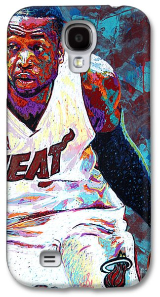 Nba Paintings Galaxy S4 Cases - D. Wade Galaxy S4 Case by Maria Arango