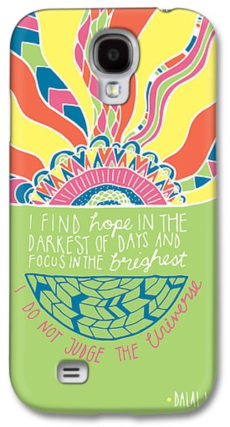 Psychedelic Photographs Galaxy S4 Cases - Dalai Lama Quote Galaxy S4 Case by Susan Claire