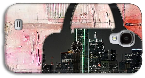 Dallas Texas Skyline In A Purse Galaxy S4 Case by Marvin Blaine