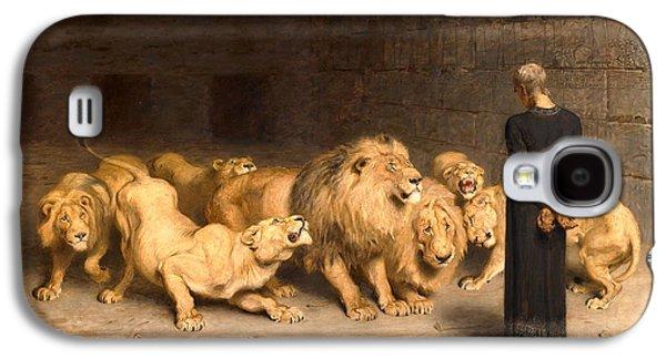 Briton Riviere Galaxy S4 Cases - Daniel in the lions den Galaxy S4 Case by Briton Riviere