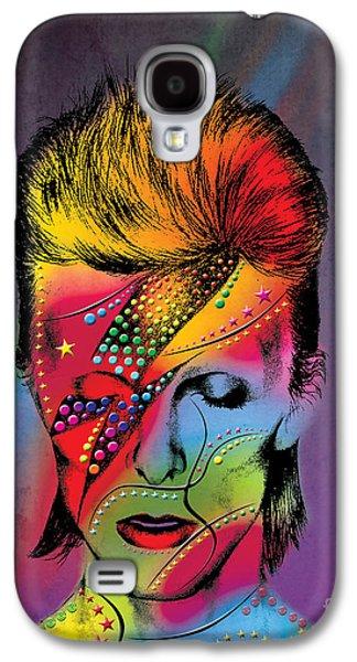 70s Galaxy S4 Cases - David Bowie Galaxy S4 Case by Mark Ashkenazi