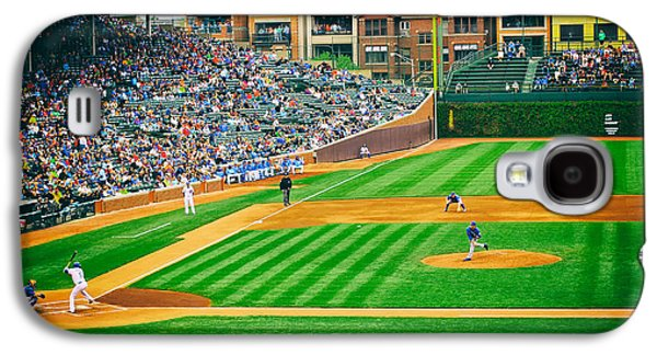 Sports Photographs Galaxy S4 Cases - Day Game at Wrigley Galaxy S4 Case by Mountain Dreams