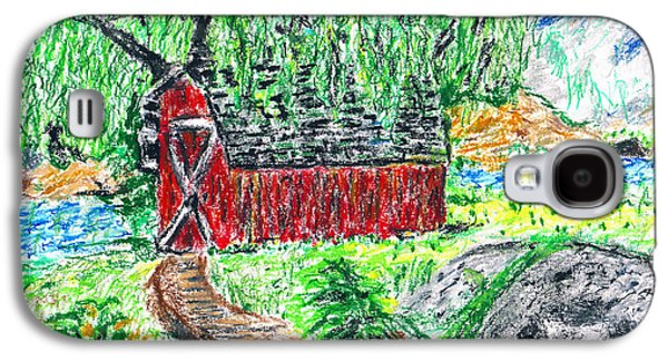 Adam Pastels Galaxy S4 Cases - DeAnna Denise Adams  Nature Pastel Drawing Galaxy S4 Case by DeAnna Denise Adams