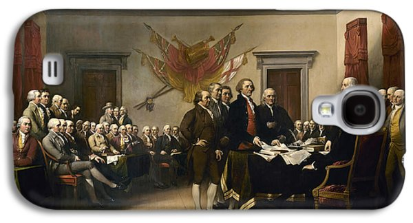 Declaration Of Independence Paintings Galaxy S4 Cases - Declaration of Independence Galaxy S4 Case by John Trumbull