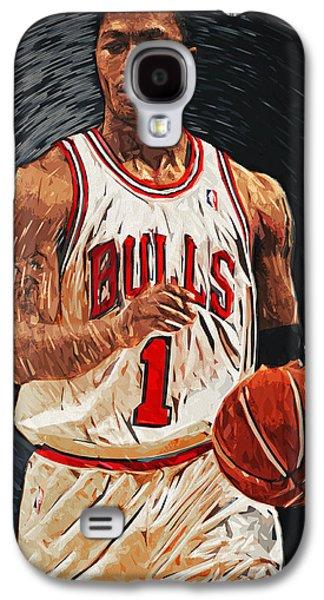 Kobe Bryant Wall Art Galaxy S4 Cases - Derrick Rose Galaxy S4 Case by Taylan Soyturk