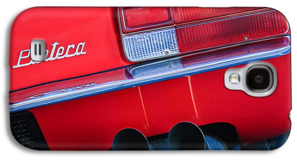 Transportation Photographs Galaxy S4 Cases - Detomaso Pantera Taillight Emblem Galaxy S4 Case by Jill Reger
