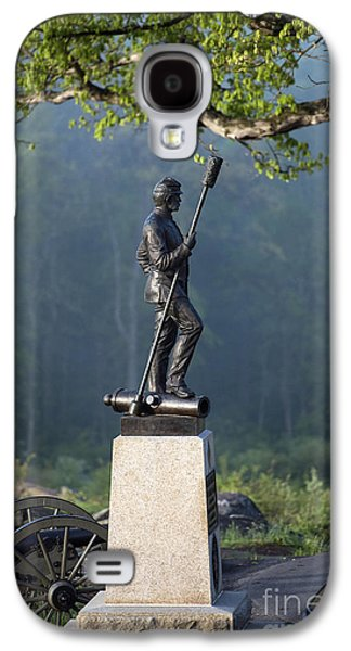 Statue Of Confederate Soldier Galaxy S4 Cases - Devils Den Monument at Gettysburg Galaxy S4 Case by John Greim