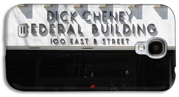 Dick Cheney Galaxy S4 Cases - Dick Cheney Federal Bldg. Galaxy S4 Case by Oscar Williams