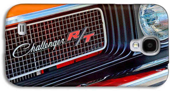 Challenger Galaxy S4 Cases - Dodge Challenger RT Grille Emblem Galaxy S4 Case by Jill Reger