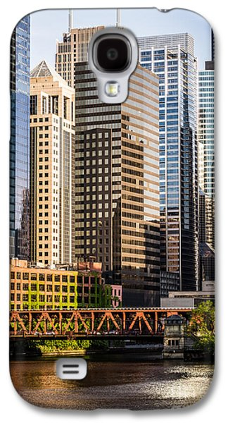Downtown Chicago Buildings At Lake Street Bridge Galaxy S4 Case by Paul Velgos