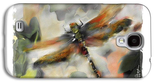 Modern Digital Art Galaxy S4 Cases - Dragonfly Garden Galaxy S4 Case by Bob Salo