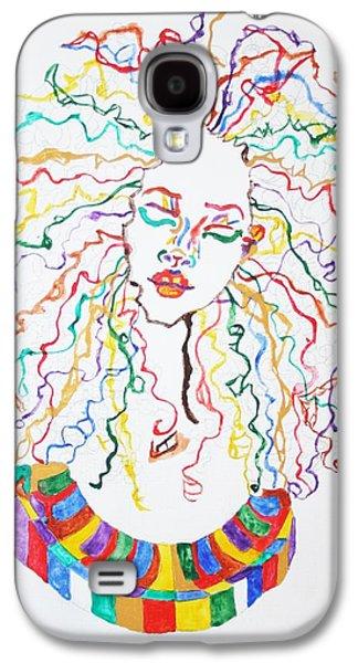 African-american Galaxy S4 Cases - Dreadlocks Piano Goddess Galaxy S4 Case by Stormm Bradshaw