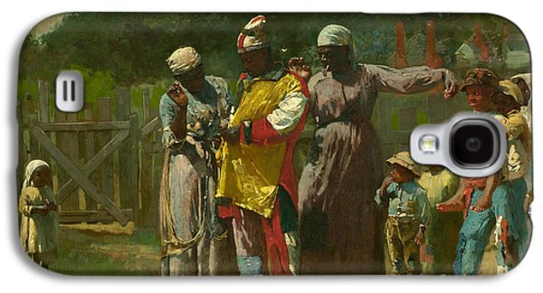 4th July Paintings Galaxy S4 Cases - Dressing for the Carnival Galaxy S4 Case by Winslow Homer
