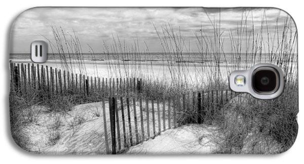 Sanddunes Galaxy S4 Cases - Dune Fences Galaxy S4 Case by Debra and Dave Vanderlaan