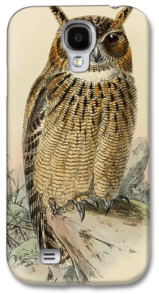 Eagle Paintings Galaxy S4 Cases - Eagle Owl Galaxy S4 Case by J G Keulemans