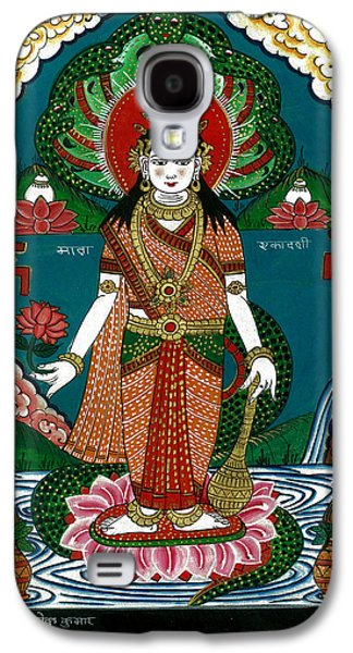 Incarnation Paintings Galaxy S4 Cases - Ek Darshi Mata Vishnu Avatar Galaxy S4 Case by Ashok Kumar