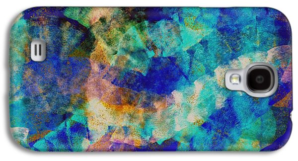 Abstract Digital Pastels Galaxy S4 Cases - Electric blue Galaxy S4 Case by Julio Haro