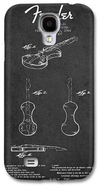 Electric Violin Patent Drawing From 1960 Galaxy S4 Case by Aged Pixel