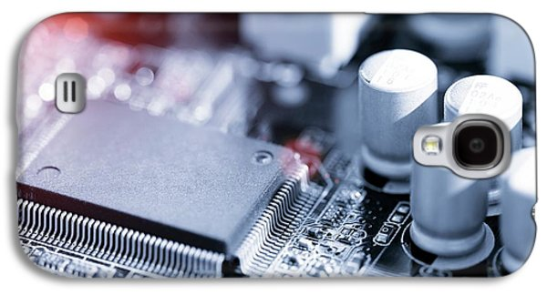 Electronic Chip Galaxy S4 Case by Wladimir Bulgar