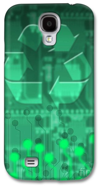 Component Photographs Galaxy S4 Cases - Electronics Recycling, Artwork Galaxy S4 Case by Victor Habbick Visions